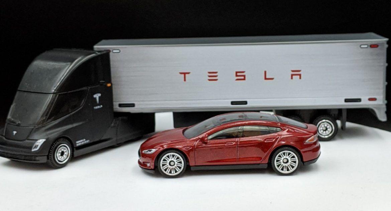 Tesla Semi Trailer and Model S