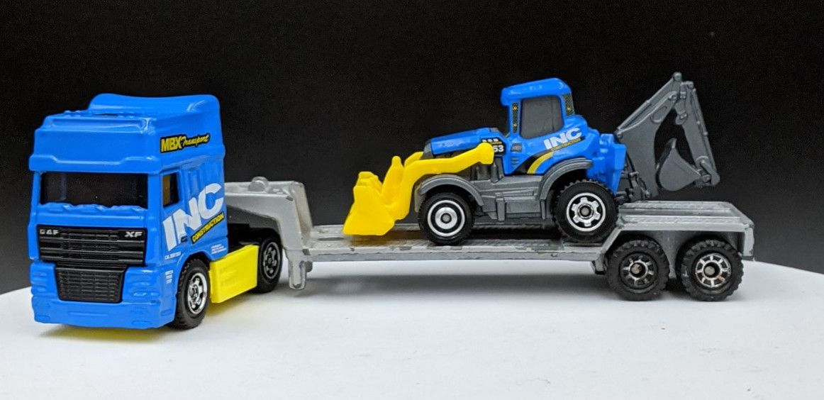DAF Cabover and Back Hoe in INC Livery