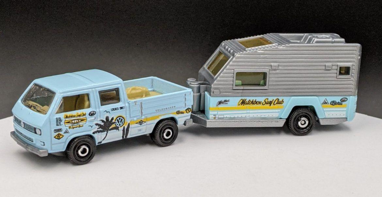 Matchbox Caravan with VW Dual Cab